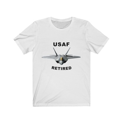 airplaneTees USAF Retired Tee F22 - Unisex Jersey Short Sleeve Tee 2