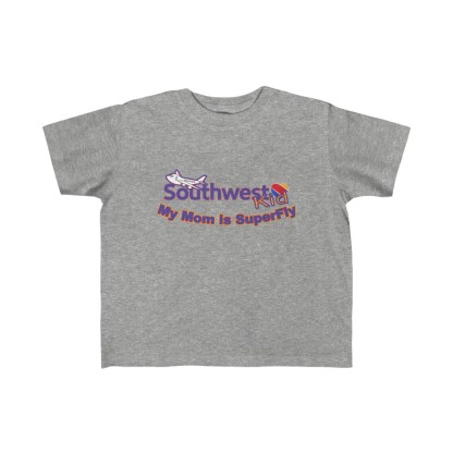 airplaneTees Southwest Mom is Superfly tee - Kid's Fine Jersey 1