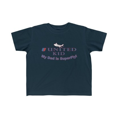 airplaneTees United Dad is Superfly Tee - Kid's Fine Jersey 1