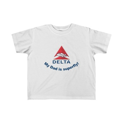 airplaneTees Delta My Dad is Superfly Kid's Tee – Fine Jersey – Delta Dad 2