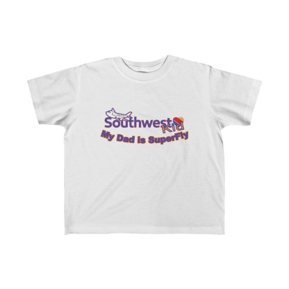 airplaneTees Southwest Dad is Superfly tee - Kid's Fine Jersey 2