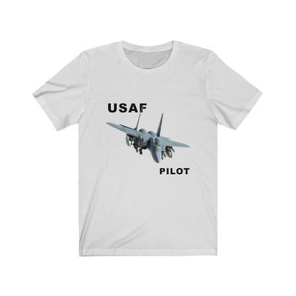 airplaneTees USAF Pilot Tee F15 - Unisex Jersey Short Sleeve Tee 3