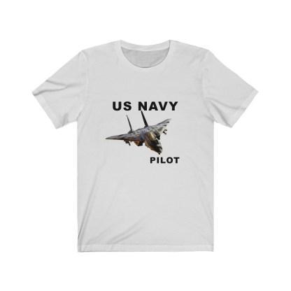 airplaneTees USN F14 Pilot Tee - Unisex Jersey Short Sleeve Tee 3