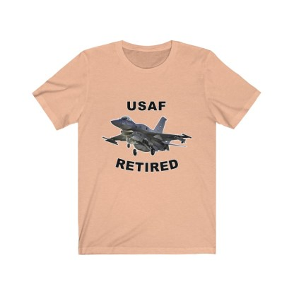 airplaneTees USAF Retired Tee F16 - Unisex Jersey Short Sleeve Tee 5