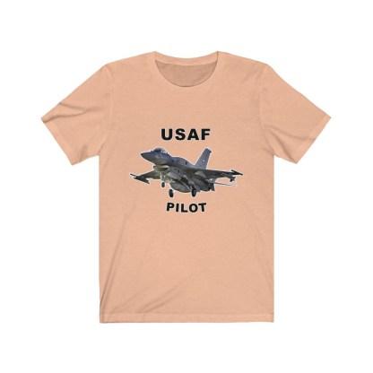 airplaneTees USAF Pilot Tee F16 - Unisex Jersey Short Sleeve Tee 5