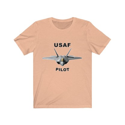 airplaneTees USAF Pilot Tee F22 - Unisex Jersey Short Sleeve Tee 5