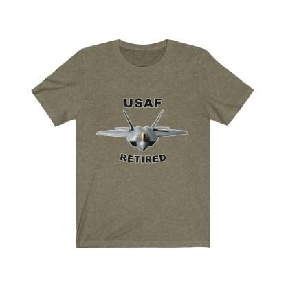 airplaneTees USAF Retired Tee F22 - Unisex Jersey Short Sleeve Tee 1