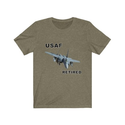 airplaneTees USAF Retired Tee F15 - Unisex Jersey Short Sleeve Tee 8