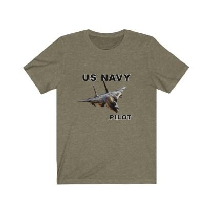 airplaneTees USN F14 Pilot Tee - Unisex Jersey Short Sleeve Tee 1