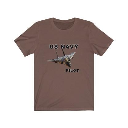 airplaneTees USN F14 Pilot Tee - Unisex Jersey Short Sleeve Tee 5