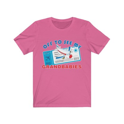 airplaneTees Off to see my Grandbabies tee - Unisex Jersey Short Sleeve Tee 14