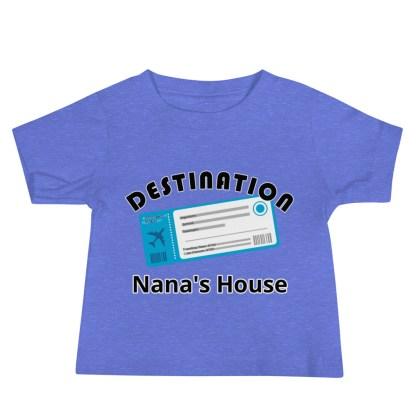 airplaneTees Destination Nanas House, Custom Text, Destination Grandma's house etc - Baby Jersey Short Sleeve Tee 1