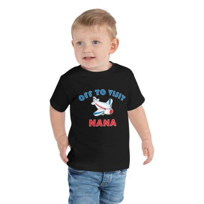 airplaneTees Off to visit NANA Tee - Toddler Short Sleeve 3