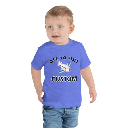 airplaneTees CUSTOM Off to visit tee - Off to visit grandma, off to visit Nana, Mom, Dad, Uncle Toddler Short Sleeve Tee 3
