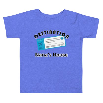 airplaneTees Custom Destination Nanas House - Toddler Short Sleeve Tee 1