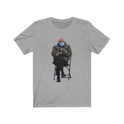 airplaneTees Bernie Sanders In Parka and Mittens Tee - Unisex Jersey Short Sleeve 1