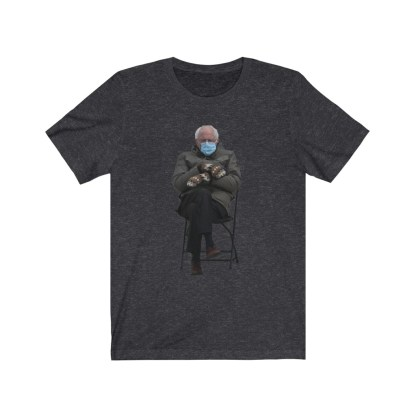 airplaneTees Bernie Sanders In Parka and Mittens Tee - Unisex Jersey Short Sleeve 12