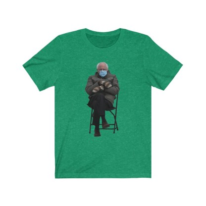 airplaneTees Bernie Sanders In Parka and Mittens Tee - Unisex Jersey Short Sleeve 8