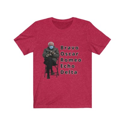 airplaneTees Bernie Sanders In Parka and Mittens Tee - BORED - Unisex Jersey Short Sleeve 13