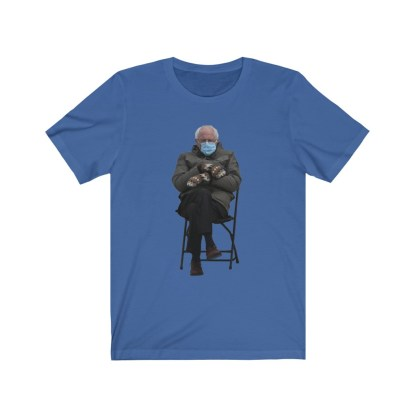 airplaneTees Bernie Sanders In Parka and Mittens Tee - Unisex Jersey Short Sleeve 10