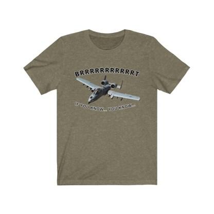 airplaneTees BRRRRRRT A10 Warthog Tee - Unisex Jersey Short Sleeve 1