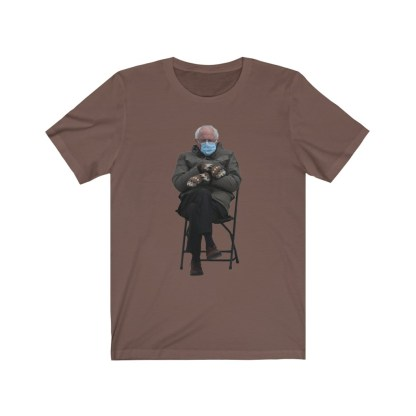 airplaneTees Bernie Sanders In Parka and Mittens Tee - Unisex Jersey Short Sleeve 5