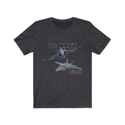 airplaneTees USN F18 Pilot Tee - Option 2 - Unisex Jersey Short Sleeve 1