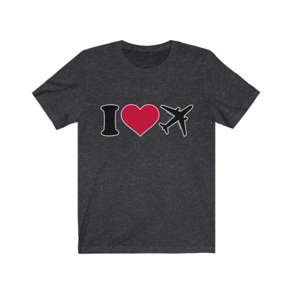 airplaneTees I Love Flying Tee - I Love Airplanes Tee - I Heart Flying Tee - I Heart Airplanes Tee - Unisex Jersey Short Sleeve Tee 9