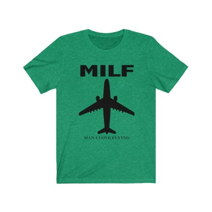 airplaneTees MILF tee – Man I love flying - Unisex Jersey Short Sleeve 4