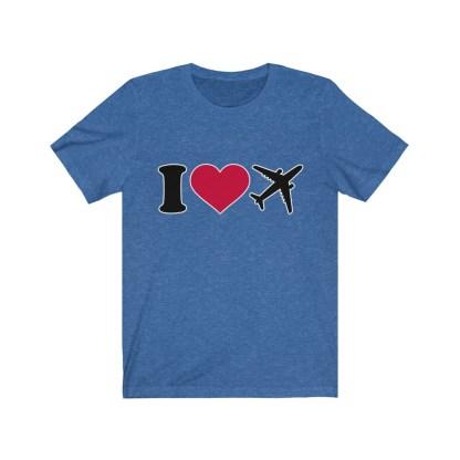 airplaneTees I Love Flying Tee - I Love Airplanes Tee - I Heart Flying Tee - I Heart Airplanes Tee - Unisex Jersey Short Sleeve Tee 8