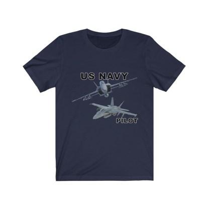 airplaneTees USN F18 Pilot Tee - Option 2 - Unisex Jersey Short Sleeve 9