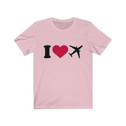 airplaneTees I Love Flying Tee - I Love Airplanes Tee - I Heart Flying Tee - I Heart Airplanes Tee - Unisex Jersey Short Sleeve Tee 10