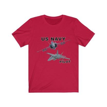 airplaneTees USN F18 Pilot Tee - Option 2 - Unisex Jersey Short Sleeve 10