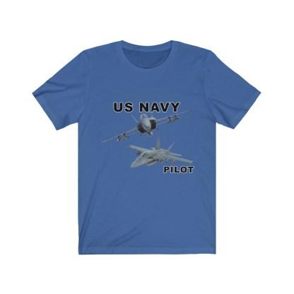airplaneTees USN F18 Pilot Tee - Option 2 - Unisex Jersey Short Sleeve 6