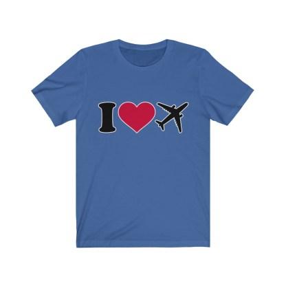 airplaneTees I Love Flying Tee - I Love Airplanes Tee - I Heart Flying Tee - I Heart Airplanes Tee - Unisex Jersey Short Sleeve Tee 7