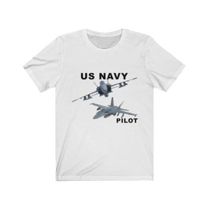 airplaneTees USN F18 Pilot Tee - Option 2 - Unisex Jersey Short Sleeve 2