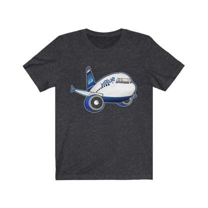 airplaneTees jetBlue Airbus Tee - Unisex Jersey Short Sleeve Tee 13
