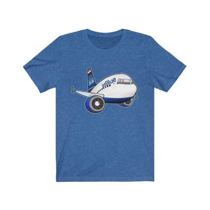 airplaneTees jetBlue Airbus Tee - Unisex Jersey Short Sleeve Tee 11