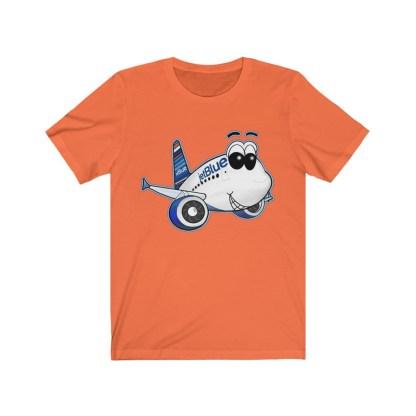 airplaneTees jetBlue Smiles Airbus Tee - Unisex Jersey Short Sleeve 4
