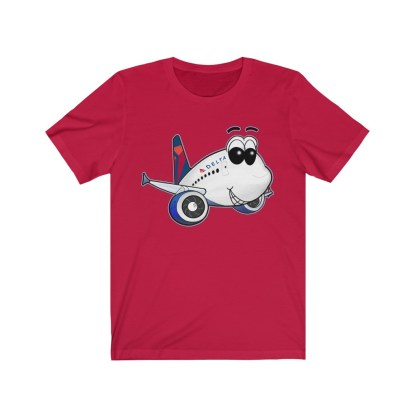 airplaneTees Delta Smiles Airbus Tee – Unisex Jersey Short Sleeve 14
