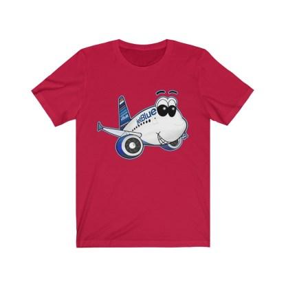 airplaneTees jetBlue Smiles Airbus Tee - Unisex Jersey Short Sleeve 13