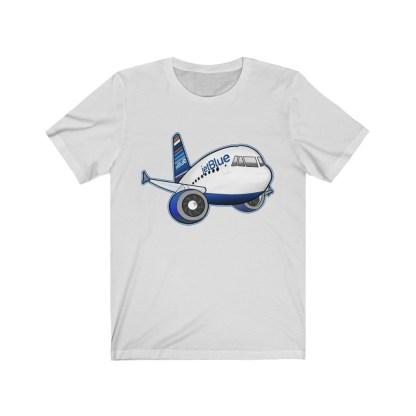 airplaneTees jetBlue Airbus Tee - Unisex Jersey Short Sleeve Tee 3