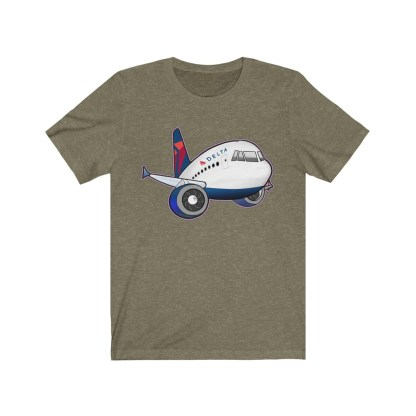 airplaneTees Delta Airbus Tee – Unisex Jersey Short Sleeve 4
