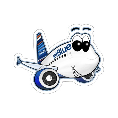 airplaneTees jetBlue Smiley Airbus Stickers - Kiss-Cut 1