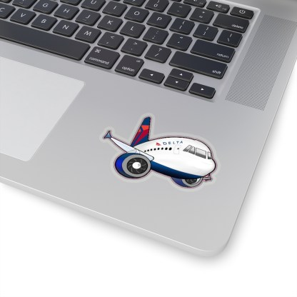 airplaneTees Delta Airbus Stickers - Kiss-Cut 8