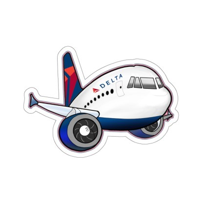 airplaneTees Delta Airbus Stickers - Kiss-Cut 9