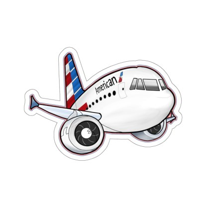 airplaneTees American Airbus stickers - Kiss-Cut 3