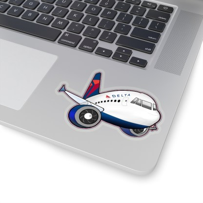 airplaneTees Delta Airbus Stickers - Kiss-Cut 12