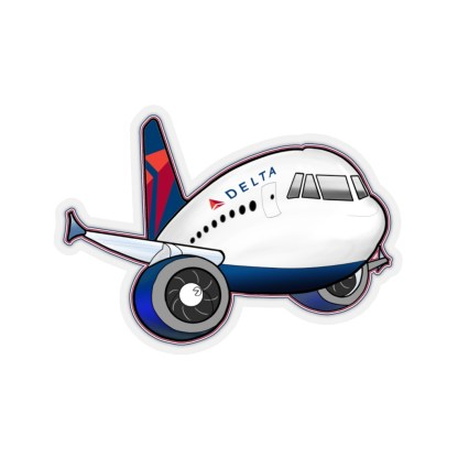 airplaneTees Delta Airbus Stickers - Kiss-Cut 1