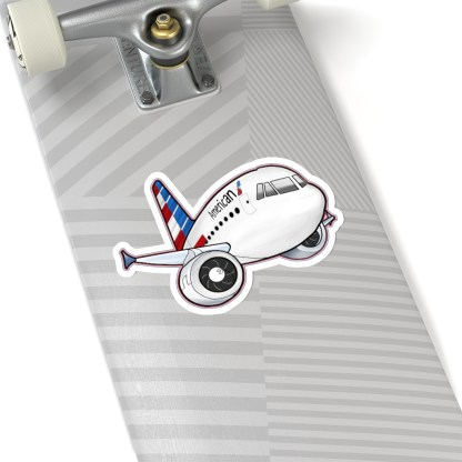 airplaneTees American Airbus stickers - Kiss-Cut 8